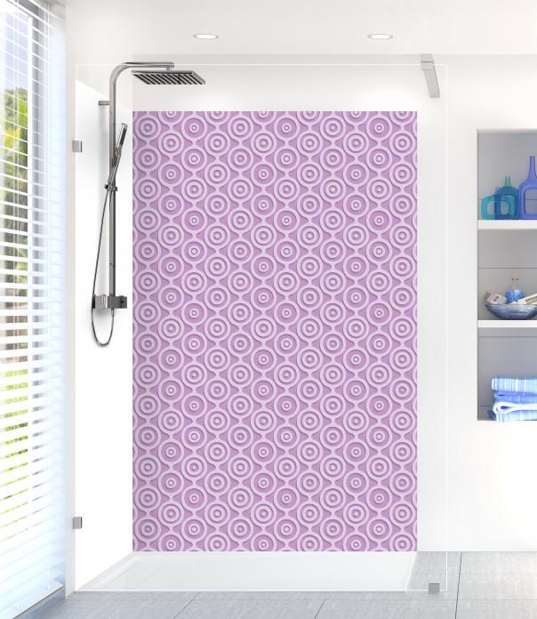 Panneau de douche Papier peint rétro couleur parme