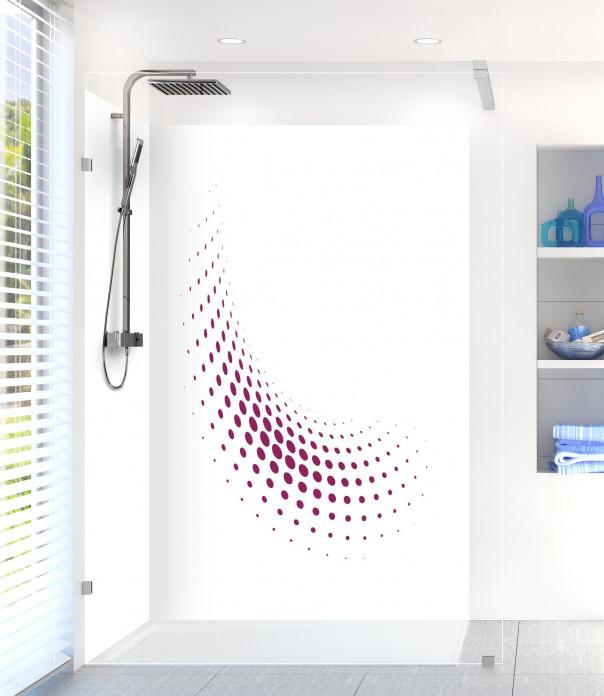 Panneau de douche Nuage de points couleur prune