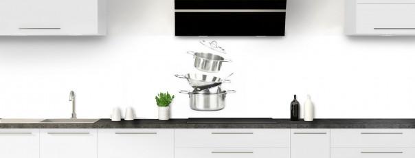 Crédence de cuisine Casseroles panoramique
