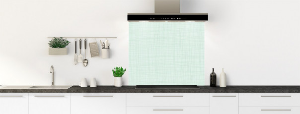 Crédence de cuisine Imitation tissus couleur vert eau fond de hotte