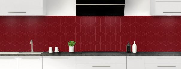 Crédence de cuisine Cubes en relief couleur rouge pourpre panoramique