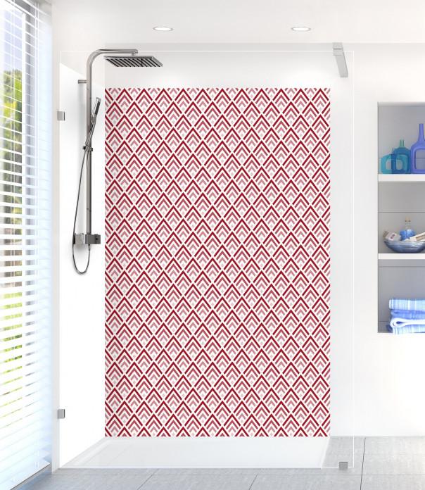 Panneau de douche Ecailles  couleur rouge carmin
