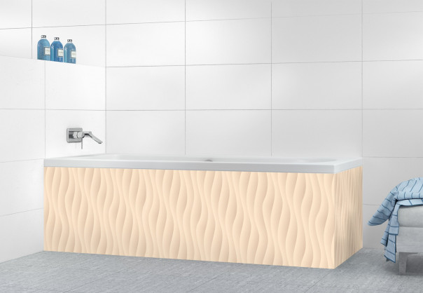 Panneau tablier de bain Ondes couleur sable