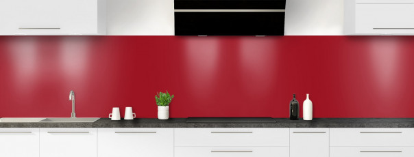Crédence de cuisine Rouge carmin panoramique