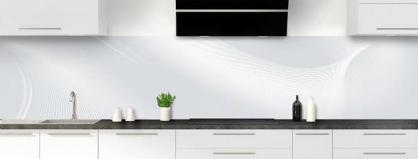 Crédence de cuisine Volute couleur gris clair panoramique motif inversé
