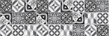 Crédence Carreaux de ciment contemporain Noir et Blanc