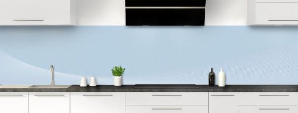 Crédence de cuisine Ombre et lumière couleur bleu azur panoramique