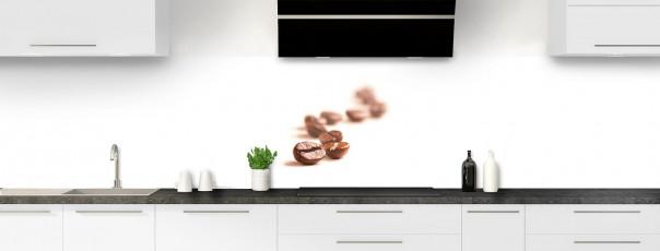 Crédence de cuisine Grains de café panoramique