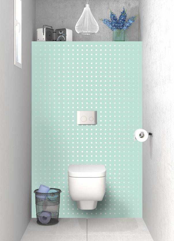 Panneau WC Petits carrés couleur vert pastel