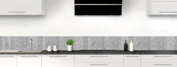 Crédence de cuisine Mur en béton dosseret