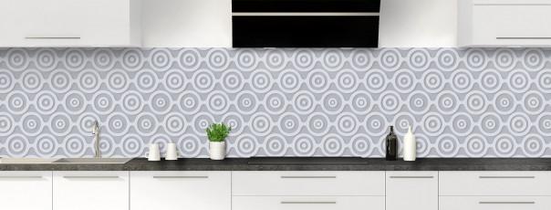 Crédence de cuisine Papier peint rétro couleur gris métal panoramique
