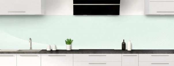 Crédence de cuisine Ombre et lumière couleur vert eau panoramique
