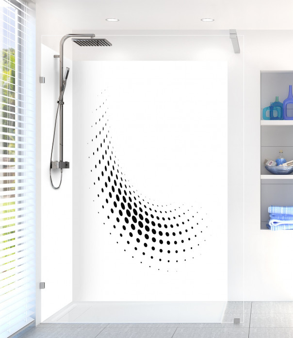 Panneau de douche Nuage de points couleur noir