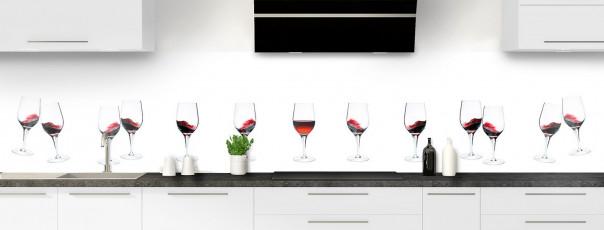 Crédence de cuisine Verres de vin rouge panoramique