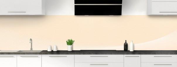 Crédence de cuisine Ombre et lumière couleur sable panoramique motif inversé