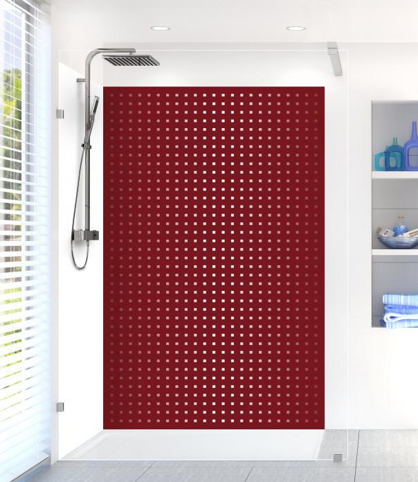 Panneau de douche Petits carrés couleur rouge pourpre
