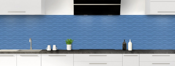 Crédence de cuisine Motif vagues couleur bleu lavande panoramique