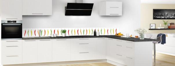 Crédence de cuisine Farandole de piments dosseret en perspective