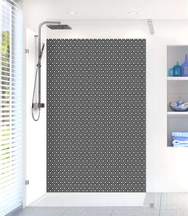 Panneau de douche Hexagones  couleur noir