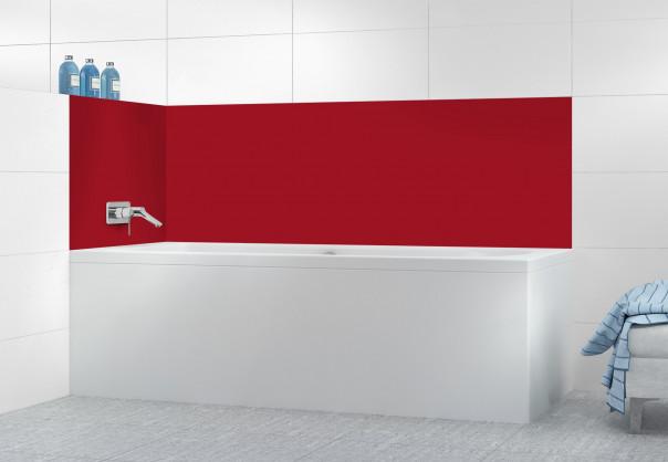Panneau de bain Rouge Carmin