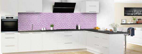 Crédence de cuisine Papier peint rétro couleur parme panoramique en perspective