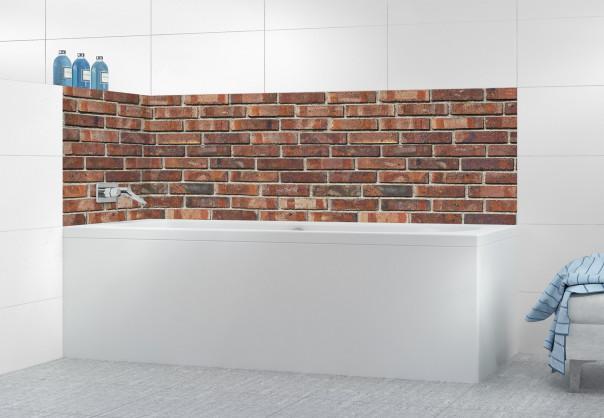 Panneau de bain Briques anciennes rouges