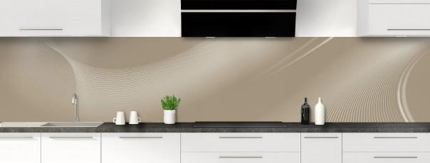 Crédence de cuisine Volute couleur marron glacé panoramique