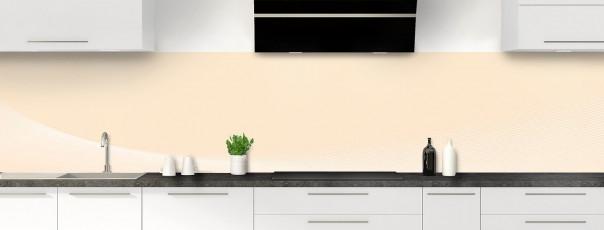 Crédence de cuisine Ombre et lumière couleur sable panoramique