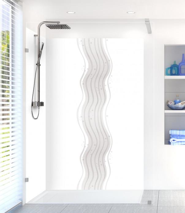 Panneau de douche Vagues design couleur blanc