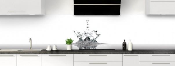 Crédence de cuisine Goutte d'eau panoramique motif inversé