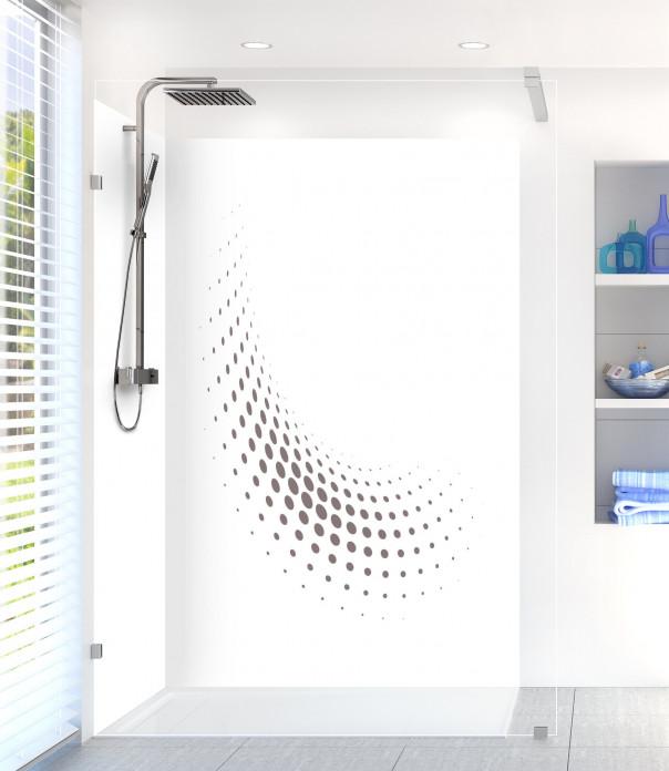 Panneau de douche Nuage de points couleur taupe