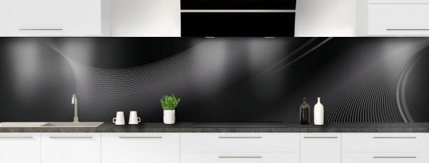 Crédence de cuisine Volute couleur noir panoramique