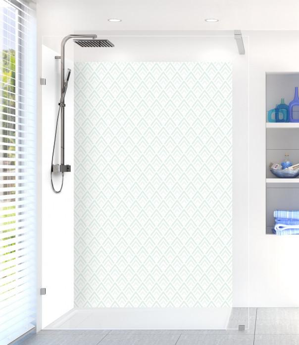 Panneau de douche Ecailles  couleur vert eau