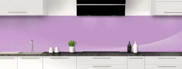 Crédence de cuisine Ombre et lumière couleur parme panoramique motif inversé