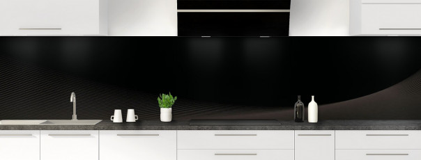Crédence de cuisine Ombre et lumière couleur noir panoramique motif inversé