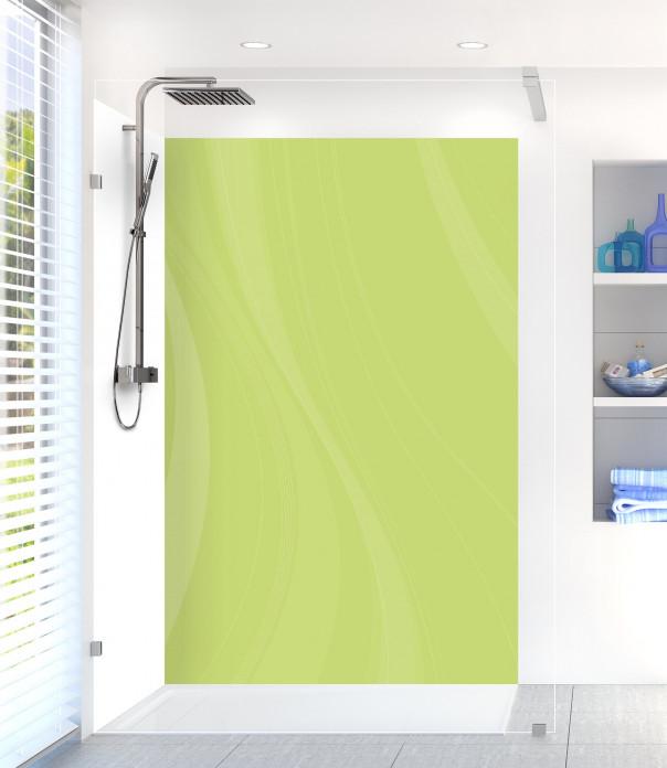 Panneau de douche Voilage couleur vert olive