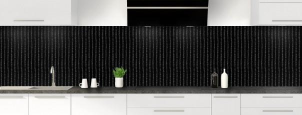 Crédence de cuisine Pointillés couleur noir panoramique