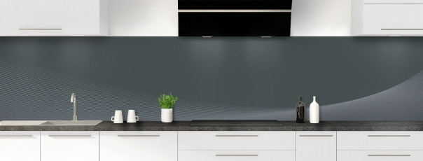 Crédence de cuisine Ombre et lumière couleur gris carbone panoramique motif inversé