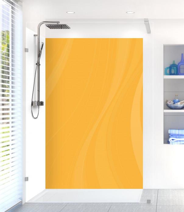 Panneau de douche Voilage couleur abricot motif inversé