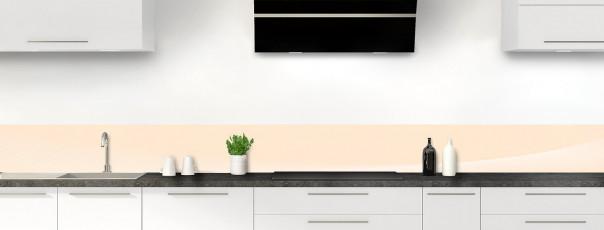 Crédence de cuisine Ombre et lumière couleur sable dosseret motif inversé