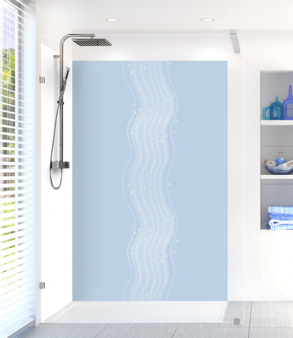 Panneau de douche Vagues design couleur bleu azur