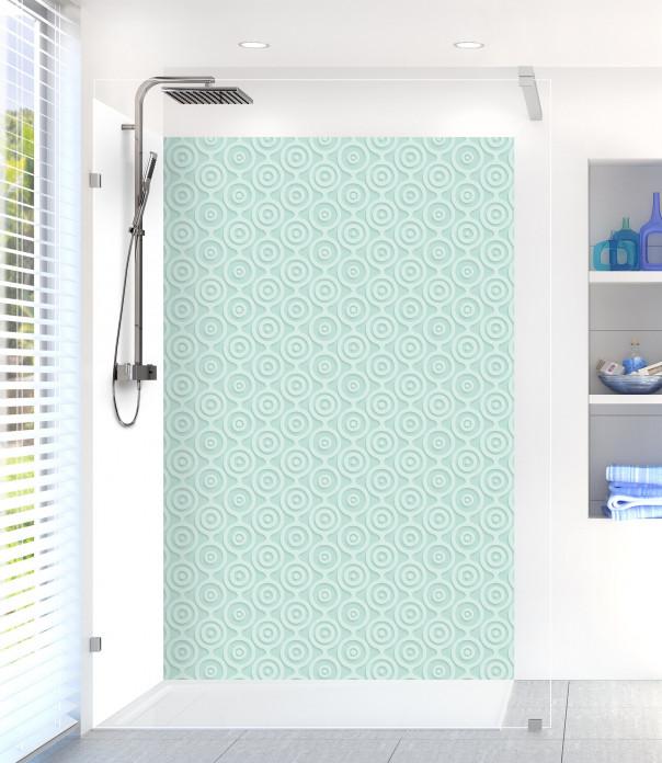 Panneau de douche Papier peint rétro couleur vert pastel