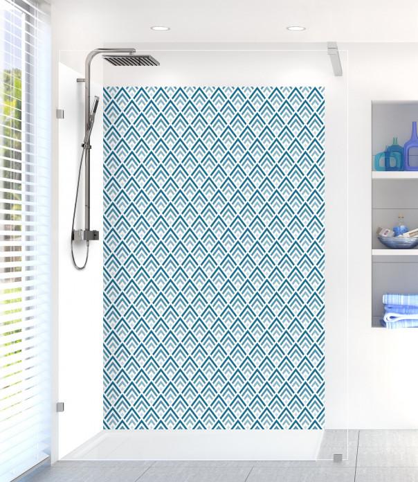 Panneau de douche Ecailles  couleur bleu baltic