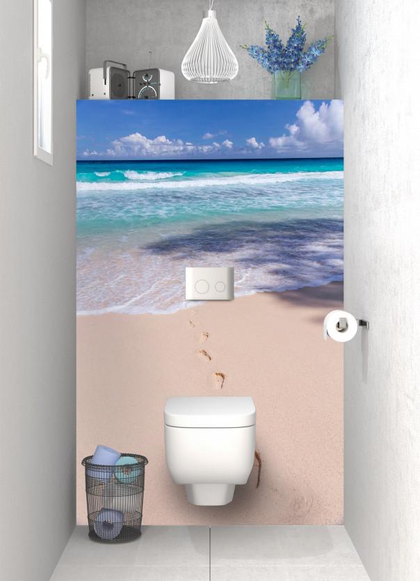 Panneau WC Les pieds dans le sable