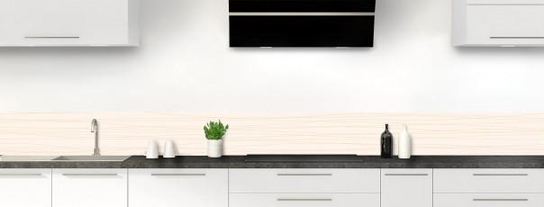 Crédence de cuisine Lignes horizontales couleur magnolia dosseret