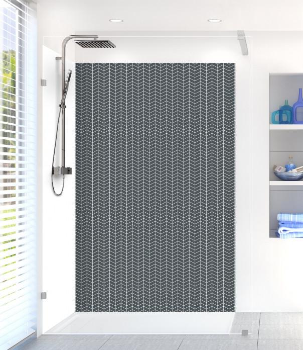 Panneau de douche Origami  couleur gris carbone