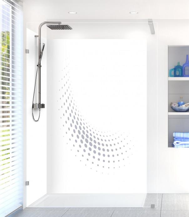 Panneau de douche Nuage de points couleur gris métal