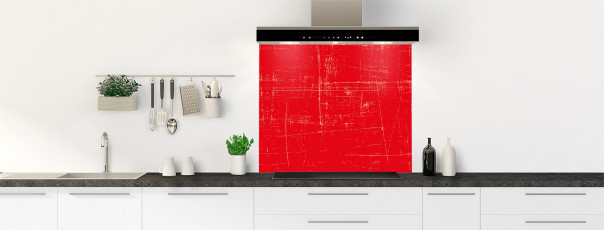Crédence de cuisine Ardoise rayée couleur rouge vif fond de hotte