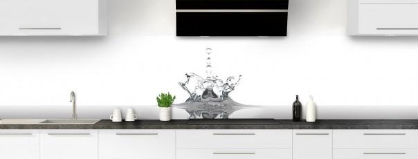 Crédence de cuisine Goutte d'eau panoramique