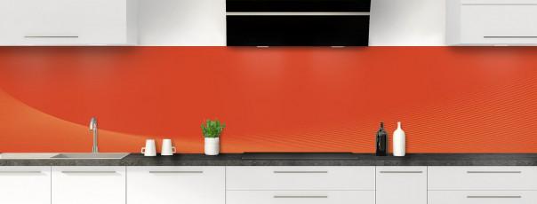 Crédence de cuisine Ombre et lumière couleur rouge brique panoramique